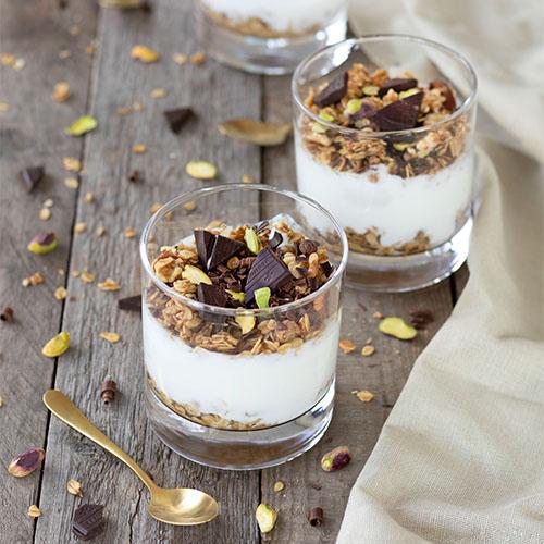 Yoghurt met Swiss chocolade